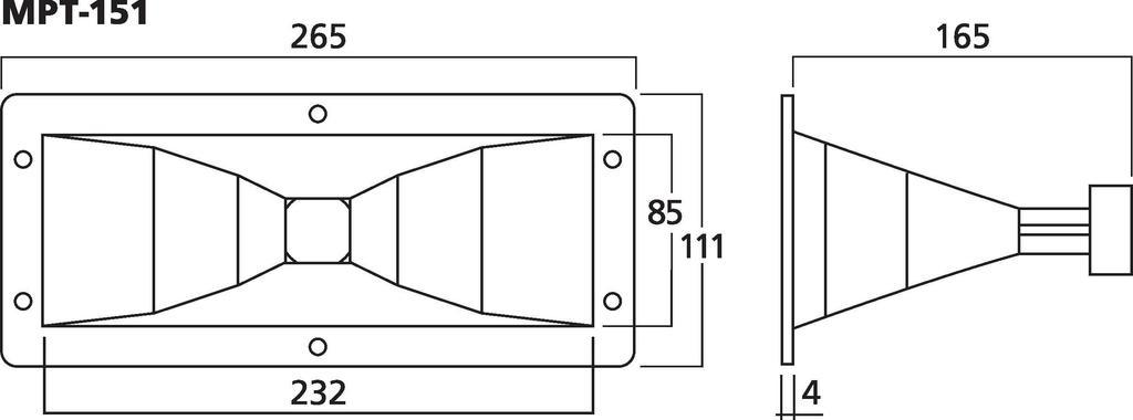 Monacor Hochtonhorn MPT-151
